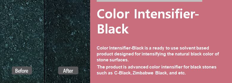 ConfiAd® Color Intensifier-Black is a ready to use solvent based product designed for intensifying the natural black color of stone surfaces.
