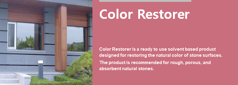 ConfiAd® Color Restorer is a ready to use solvent based product designed for restoring the natural color of stone surfaces. The product is recommended for rough, porous, and absorbent natural stones.