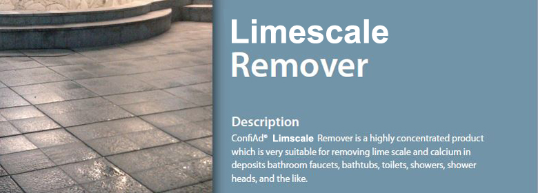 ConfiAd® Limescale Remover is a highly concentrated product which is very suitable for removing lime scale and calcium in deposits bathroom faucets, bathtubs, toilets, showers, shower heads, and the like.