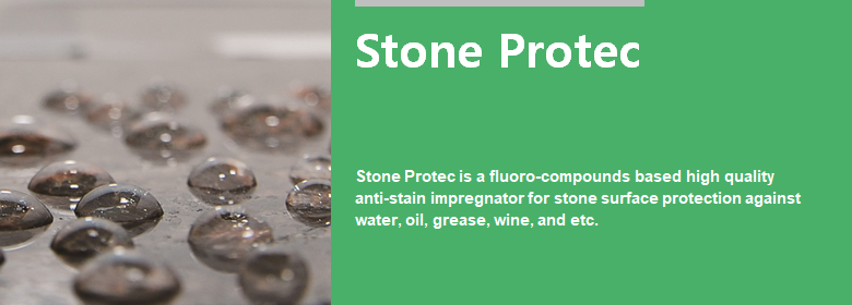 ConfiAd® Stone Protec is a fluoro-compounds based high quality anti-stain impregnator for stone surface protection against water, oil, grease, wine, etc.