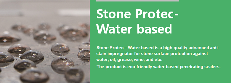 ConfiAd® Stone Protec – Water based is a high quality advanced anti-stain impregnator for stone surface protection against water, oil, grease, wine, etc.